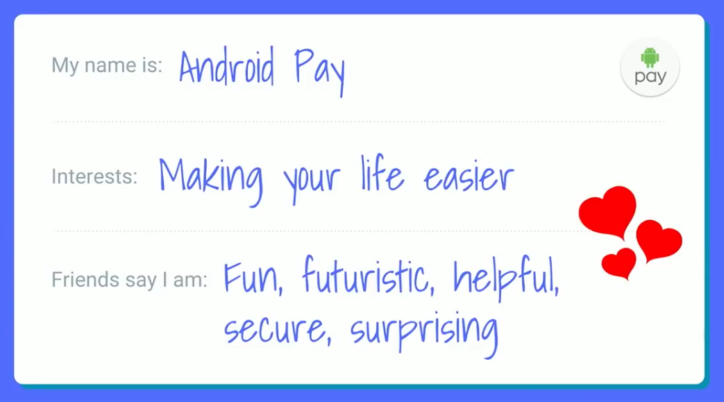 UX-writing Android Pay Brand Voice