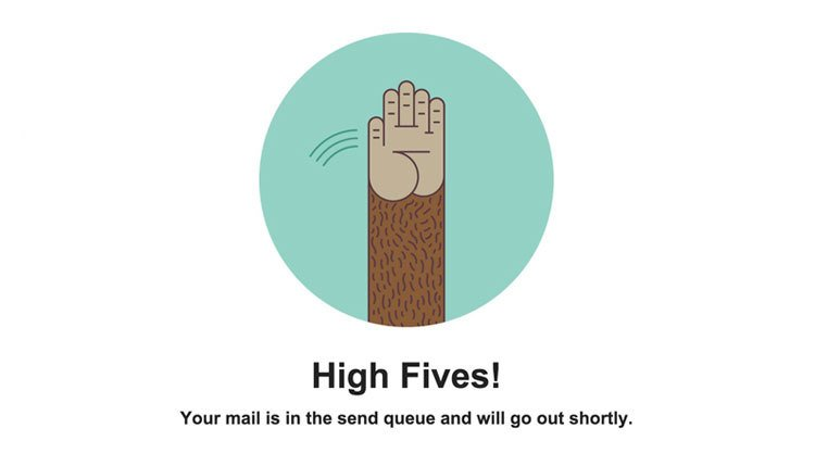 Mailchimp UX writing – High five
