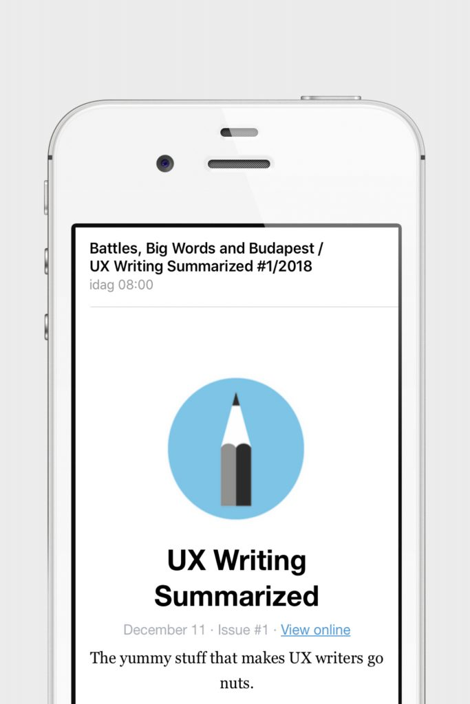UX Writing Summarized – first issue