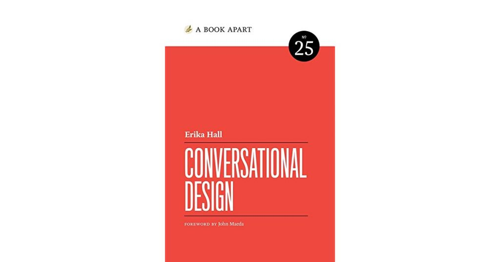 Boken Conversational design av Erika Hall