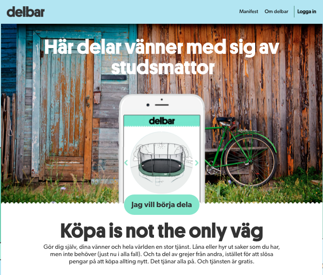 Copywriting för Delbar – Köpa is not the only väg